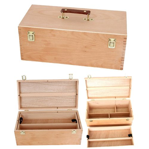 Artists Wooden Case XXL Storage Box Paint Brushes: Amazon.co.uk: Kitchen U0026  Home