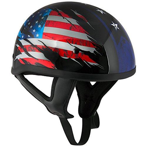 Stars And Stripes Motorcycle Helmet - 4