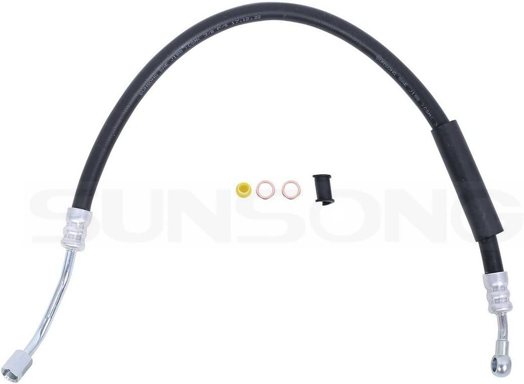 Sunsong 3404081 Power Steering Pressure Line Hose Assembly