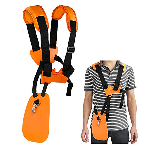 (WEIBOND Trimmer Shoulder Stra - Grass Trimmer Harness Strap, Comfort Strap Double Shoulder Garden, Brush Cutter Lawn Mower Nylon Belt for STIHL FS)