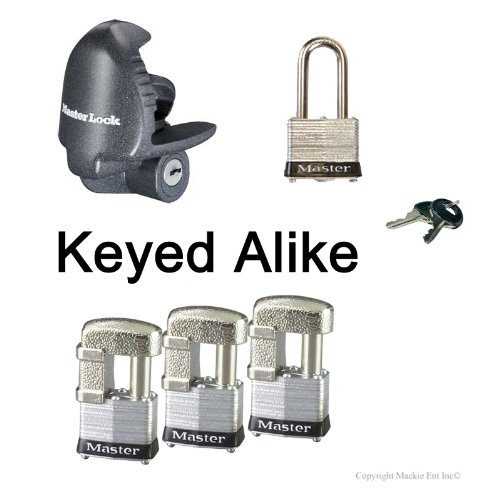 (Master Lock - 5 Trailer Locks Keyed Alike 5KA-37937-3)