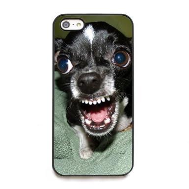 17297503a82 Cachorro de perro Chihuahua HD Protectora Negro Carcasa rígida para iPhone  5 y 5S, \