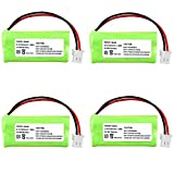 INSTEN® 4 Cordless Home Phone Battery Pack Compatible with VTech BT166342 BT266342 BT183342 BT283342