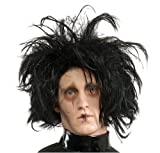 Edward Scissorhands Adult Costume Wig, Black, One Size