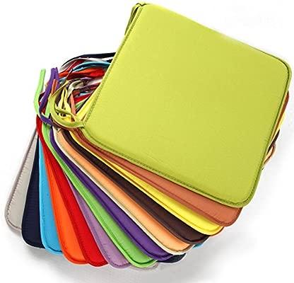 Almohadillas cuadradas para sillas, 40 cm x 40 cm, cojín para silla de jardín, suave, extraíble, para comedor, oficina, cafetería Tamaño libre 3