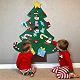 B bangcool DIY Felt Christmas Tree with 26Pcs Xmas Ornaments 3.2ft DIY Christmas Tree Wall Hanging Xmas Gifts Christmas Decorations