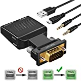 HDMI to VGA Adapter,ASONRL 1080P HDMI to VGA with Audio Converter for HDTV,Computer,Projector with Audio Cable and Micro USB Power Cable,Portable Size