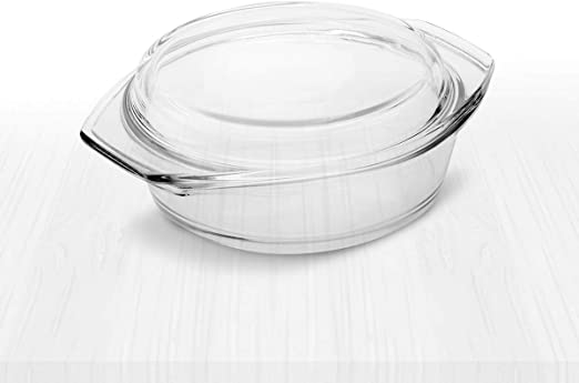 Amazon.com: Simax - Cacerola redonda de cristal transparente ...