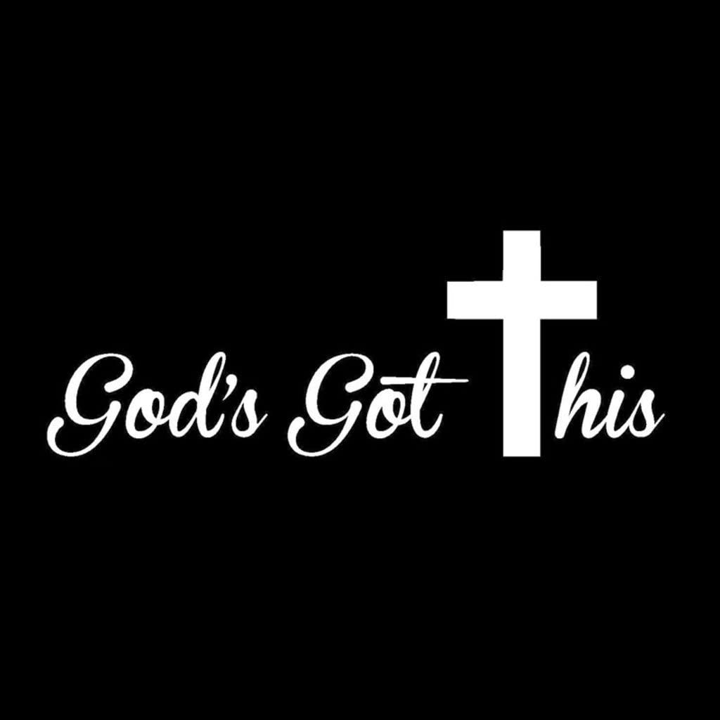 God's Got This Christian Vinyl Decal Sticker | Cars Trucks Vans Walls Laptops Cups | White | 7 X 2.5 inches | KCD1511