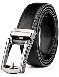 Leather Ratchet Dress Belt for Men Perfect Fit Waist Size Up to 44
