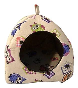 iOn Iglú para Perro y Gato, diseño búhos: Amazon.es: Productos para mascotas