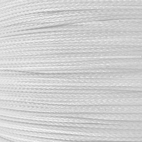 1.3mm 400lb Braided Spectra R Cord Super Strong and Light Tactical Utility Line. Fishing Arborist Outdoor Large Kites