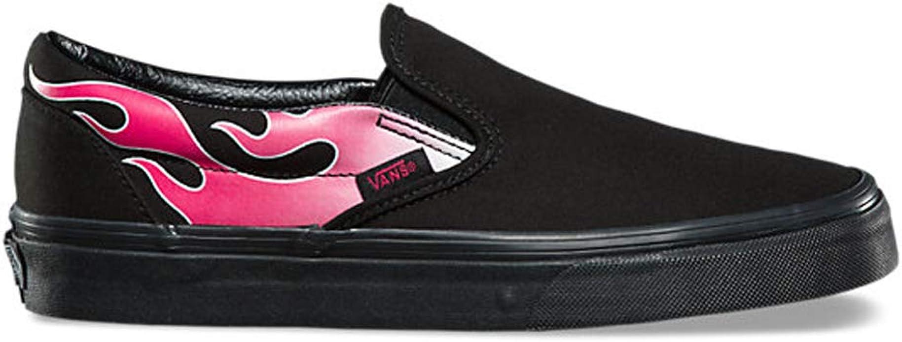 Vans Classic Slip-On (Flame) Black/Pink