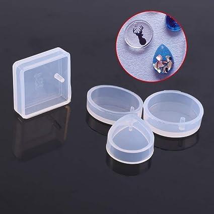 Molde Silicona Joyería Formas para Fabricación de Collares Pendientes Kit de Moldes para Joyas DIY