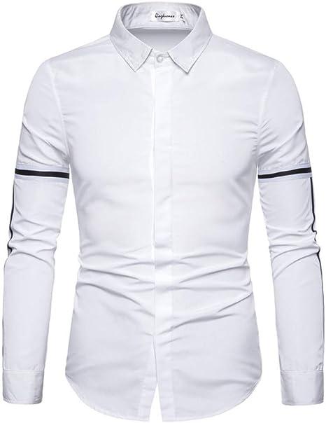 CHENS Camisa/Casual/Unisex/Camisas de Hombre XXL de Manga Larga Camisa Regular fit Blusa de Manga Larga de Moda Blusa Blanca de Vestir de Negocios: Amazon.es: Deportes y aire libre