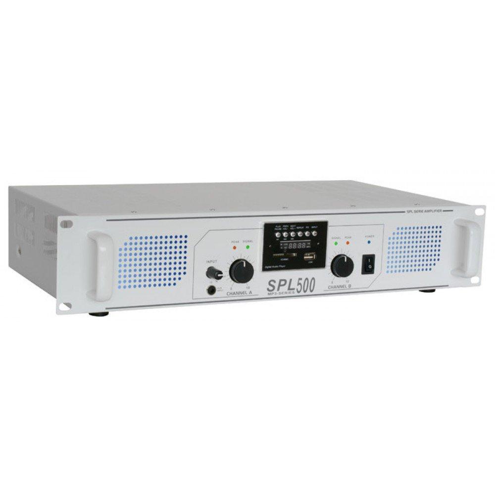 Amplificatore Hi-Fi PA Skytec SPL-1500-EQ 48cm luce led 178798
