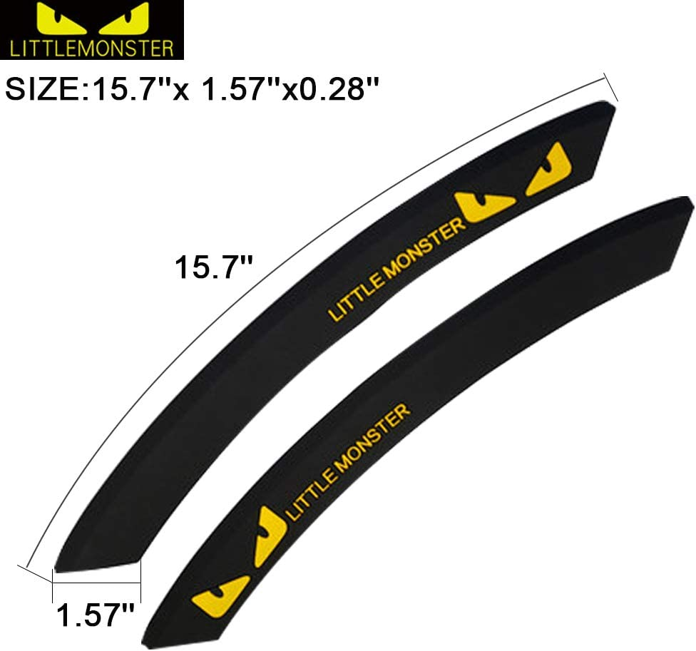Black, 40CM Curved ,2 Pack TIDO Car Wheel Wells Fender Eyebrow Edge Trim Protector Rubber Strips Side Bumper Protection Guard Automobile Anti-Scratch Corner for Car SUV Pickup Truck