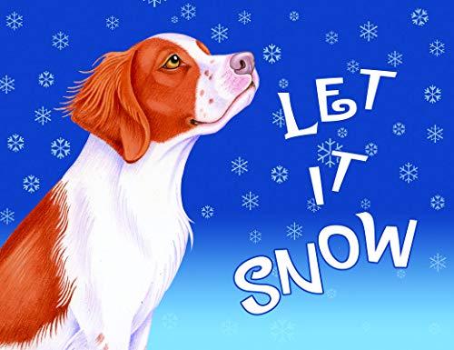 (Best of Breed Brittany Spaniel Let It Snow Fleece Blanket )