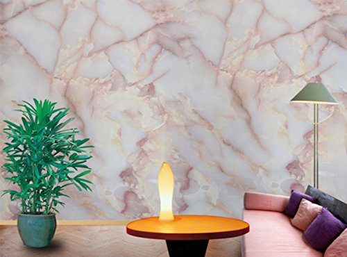 Amao Amber Pink Granite Look Marble Effect Counter Top Film Vinyl Self Adhesive Peel-Stick Wallpaper 12'' X 79'' by Amao