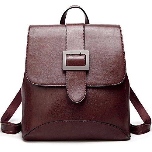 SiMYEER Women's Leather Backpack Purse Top Tote Bags Handbags Shoulder Bag School Casual Daypack for Girls ()