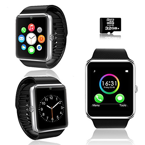 inDigi GT8 Universal SmartWatch Pedometer + Fitness Android iOS - Free 32GB SD!