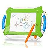 DUTISON Magnetic Doodle Board Kids, Magna Drawing Board Toy Erasable Sketching Pad Colorful Writing Painting Sketching Pad Toddler Boy Girl Kids Skill Development-Non-Toxic Green