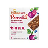 Happy Mama Prenatal Organic Soft-Baked Oat Bars Pregnancy Snack, Blueberry and Beet, 1.58 Ounce, 5 Count