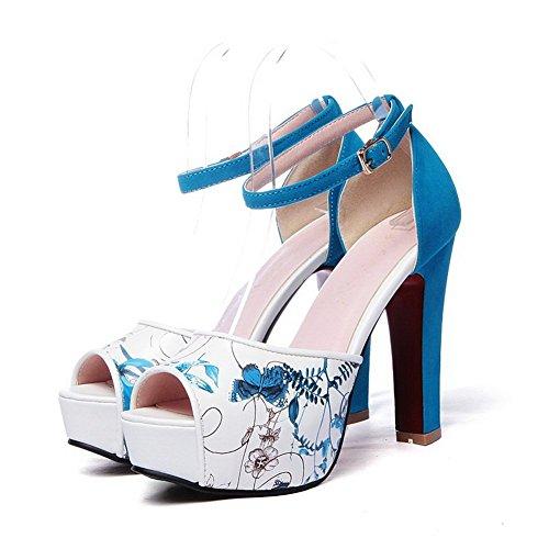 pelle BalaMasa Blue animali motivo donna stampa da in Imitated floreale wH78rwq