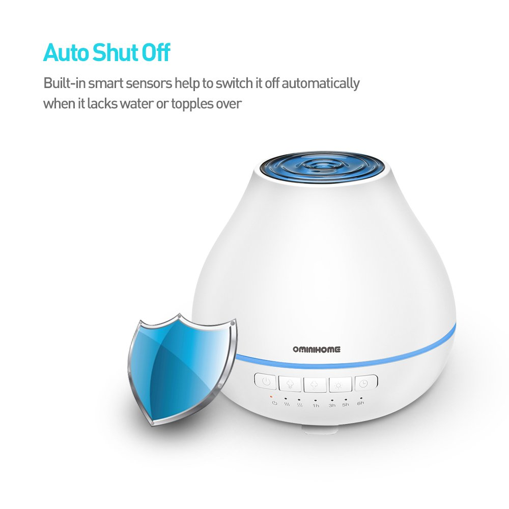 Aromatherapy Essential Oil Diffuser Humidifier Cool Mist Ultrasonic Aroma Diffuser 200ml Air Purifier with Timer Changing Colors LED Lights Waterless Auto Shut-off for Home/Office/Bedroom - White