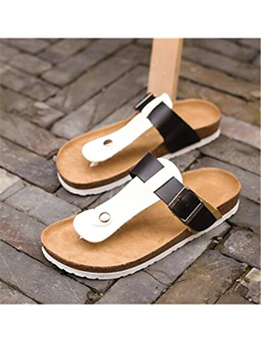 Cork Slides Flip Casual Shoes 1208 Lovers Slippers Beach white Women black Flops Summer Sandals Soft Jwhui XqIxg1nwg