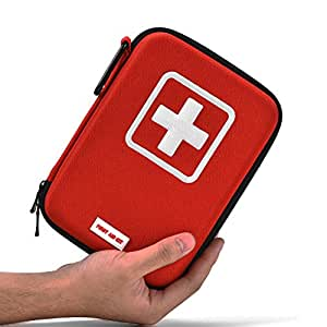 First Aid Kit 110 Piece for Survival Car Home Office Camping Hiking Travel Outdoor Sports Earthquake Emergency Kits Red