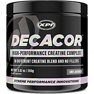 Decacor Creatine - Best Creatine Powder - Contains Creapure - Top Creatine Supplement - Enhance Your Muscle Growth, Power and Recovery