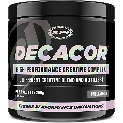 Decacor Creatine (50 Serv) - 10 Creatine Blend - Best Creatine Powder - Muscles, Power, Recovery