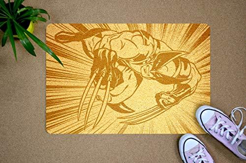 (Wolverine Marvel Comics Design 24x16 inch Rubber Doormat Art Gift Idea for Him, Decorate Home Style, Fun Welcome Mat, Entry Decor, Home Decor, Cool Door Mat, for Men, Boyfriend,)