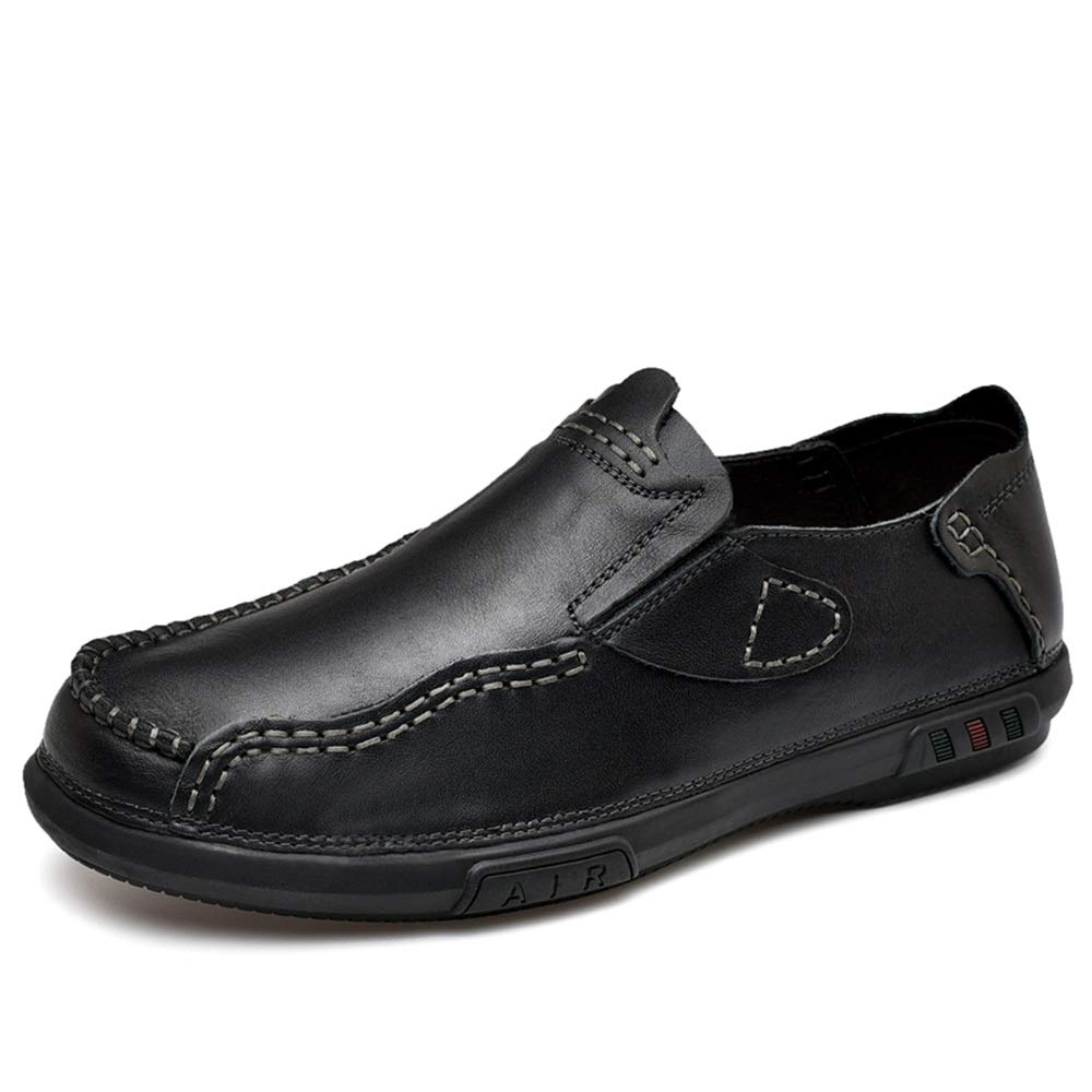 XW_H Men Loafers Shoes Leather Hiking Slip On Flats Shoes丨Penny Loafers 丨Men Casual Shoes 丨Canvas Shoes for Men 丨Driving Shoes丨Mens Boat Shoes (Color : Black, Size : 6.5 M US)