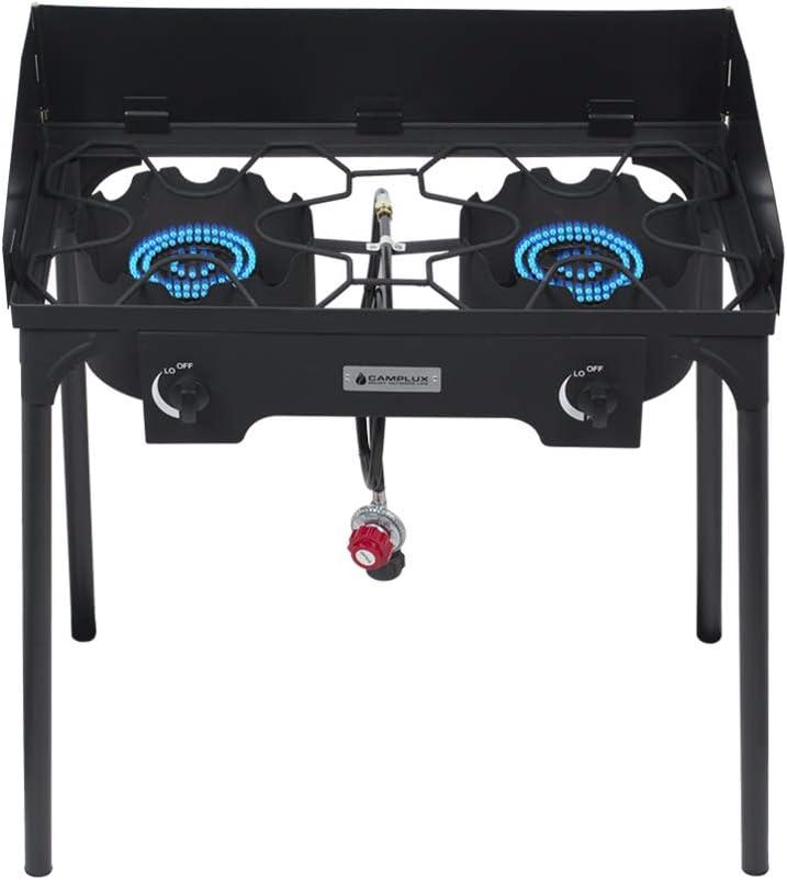 Camplux Double Burner Stove 260,000 BTU Heavy-Duty Propane Gas Outdoor Cooker JK-DL26