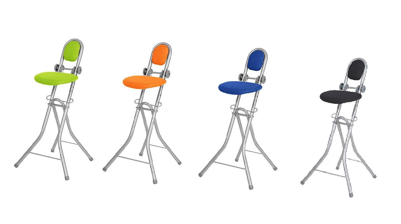 Fine Ironing Chair Adjustable To 6 Different Heights Folding Ironing Chair Ergonomic Seating For Ironing With Back Rest Uwap Interior Chair Design Uwaporg