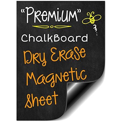 "Nice Bigtime 16"" Magnetic Dry Erase Weekly Chalkboard Menu Meal Planner Organizer for Refrigerator | Grocery Shopping List Area | Fitness or Diabetic Meal Prep Planning 1 Calendar Week Fridge Black Board for cheap"