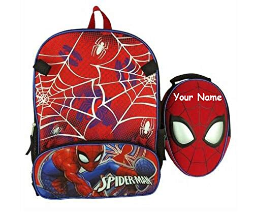 (Personalized Marvel Spider-Man Personalized Spiderman Backpack with Lunchbox)