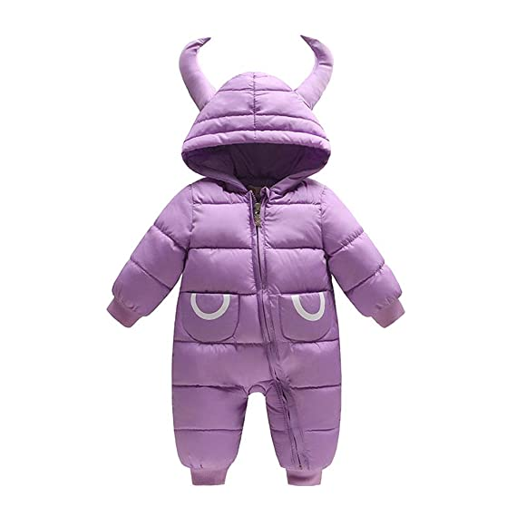 cf5010f1a LSERVER Unisex Baby Winter Hooded Down Jumpsuit Snowsuit Romper Warm ...