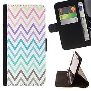 For Samsung Galaxy S6 Active G890A Case , Pastel púrpura del trullo Modelo amarillo- la tarjeta de Crédito Slots PU Funda de cuero Monedero caso cubierta de piel