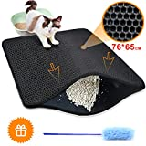 Cat Litter Mat Trapper - 76 x 65 cm Honeycomb Double Layer Tapis