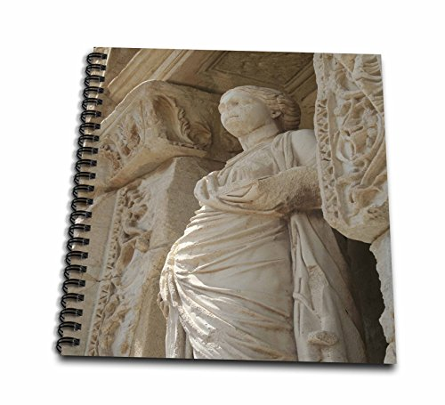 3dRose db_51686_1 Statue-Sophia, Goddess, Wisdom, Celcus, Ephesus, Roman God, Ruins, Roman Mythology-Drawing Book, 8 by 8-Inch (Spiral Goddess Statue)