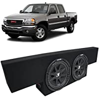 Fits 01-06 GMC Sierra Non-HD Crew Cab Truck Kicker Comp C12 Dual 12 Sub Box Enclosure - Final 2 Ohm