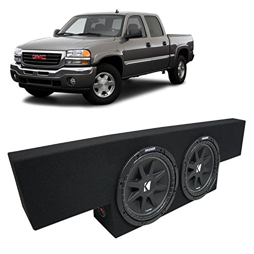 Fits 01-06 GMC Sierra Non-HD Crew Cab Truck Kicker Comp C12 Dual 12″ Sub Box Enclosure – Final 2 Ohm