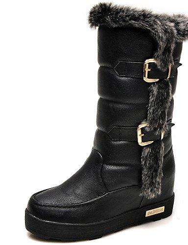 negro Plano De La Sintético 5 Tacón Y Mujer Black Cn35 Zapatos Fiesta Botas Noche Uk3 Moda Casual Xzz us5 A 5 Vestido Nieve Eu36 4IwaZ