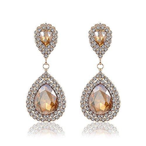 Rose Gold Drop Earrings: Amazon.com