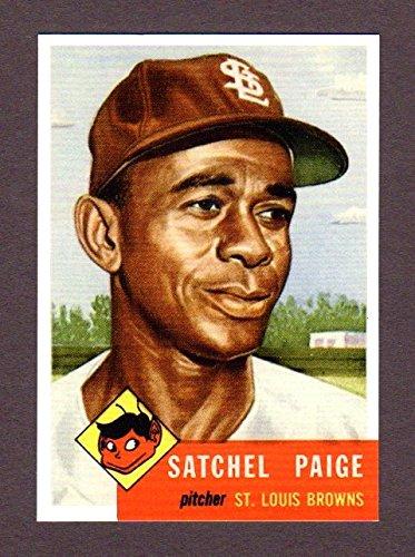 - Satchel Paige 1953 Baseball Reprint Card (Browns)