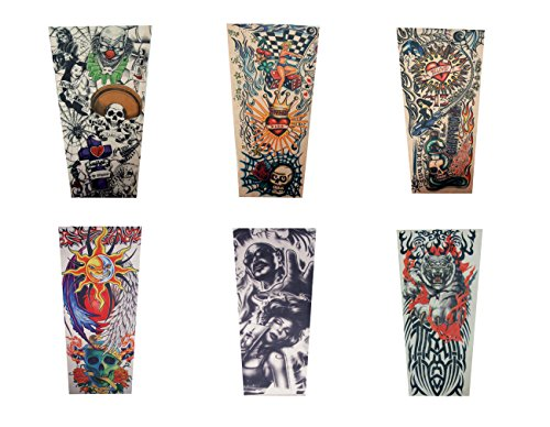 Dragon Tattoo Leg (Efivs Arts Xt Series Temporary Fake Tattoo Arm Sleeves Leg Stockings Accessories for Men Women 6 Pcs (Set B))
