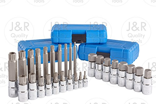 J&R Quality Tools 28pc Hex & XZN 12 Poin - 12 Point Spline Bit Shopping Results
